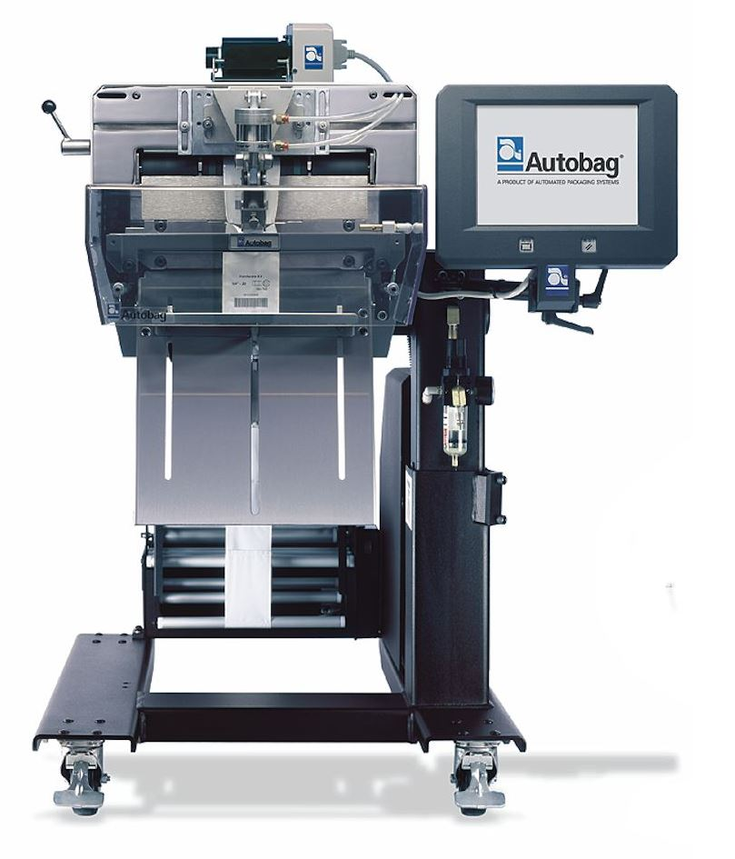 AutoLabel PI 412c Imprinter with bagger front
