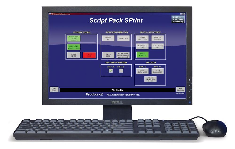 Script Pack SPrint Bagger main screen