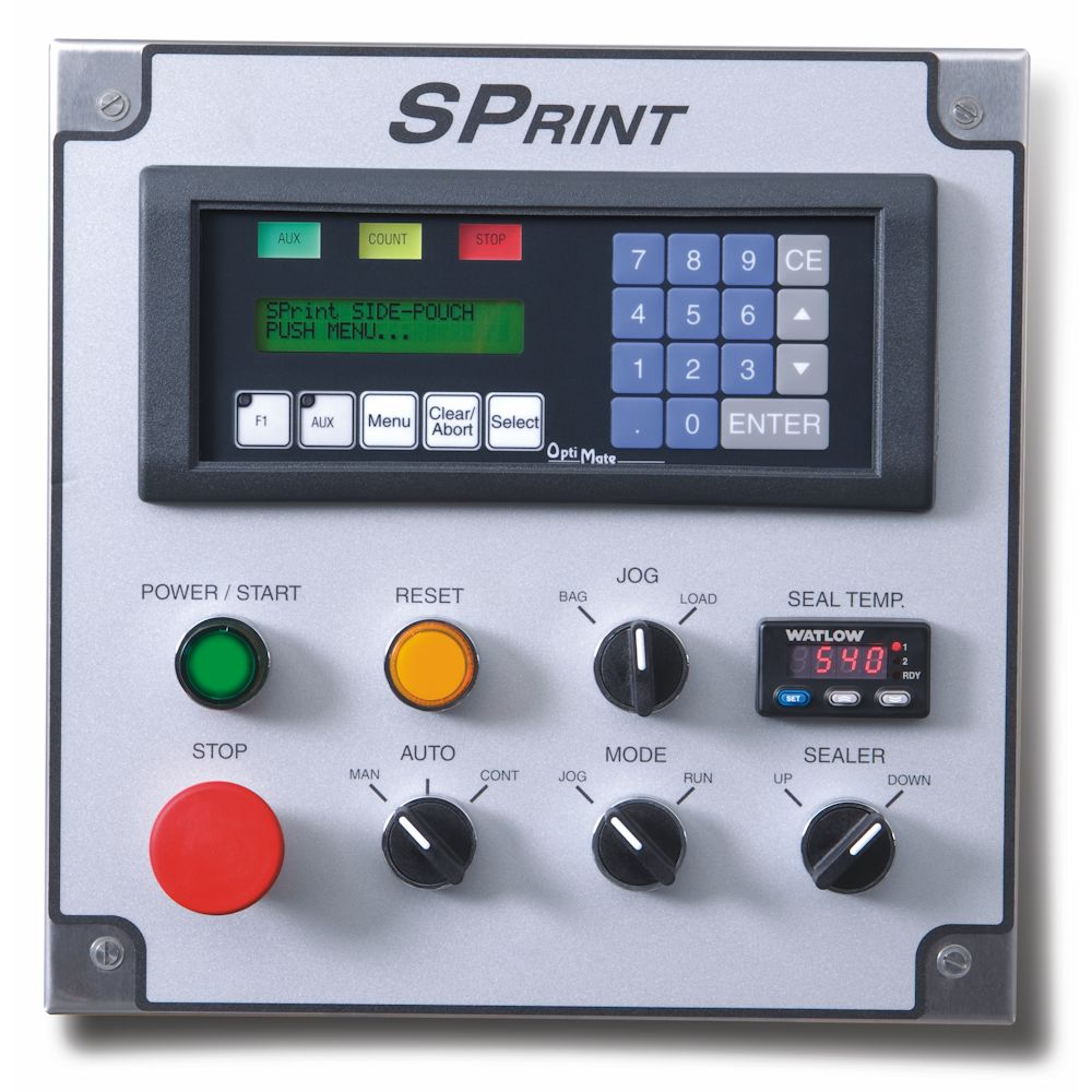SPrint SidePouch Bagger control panel