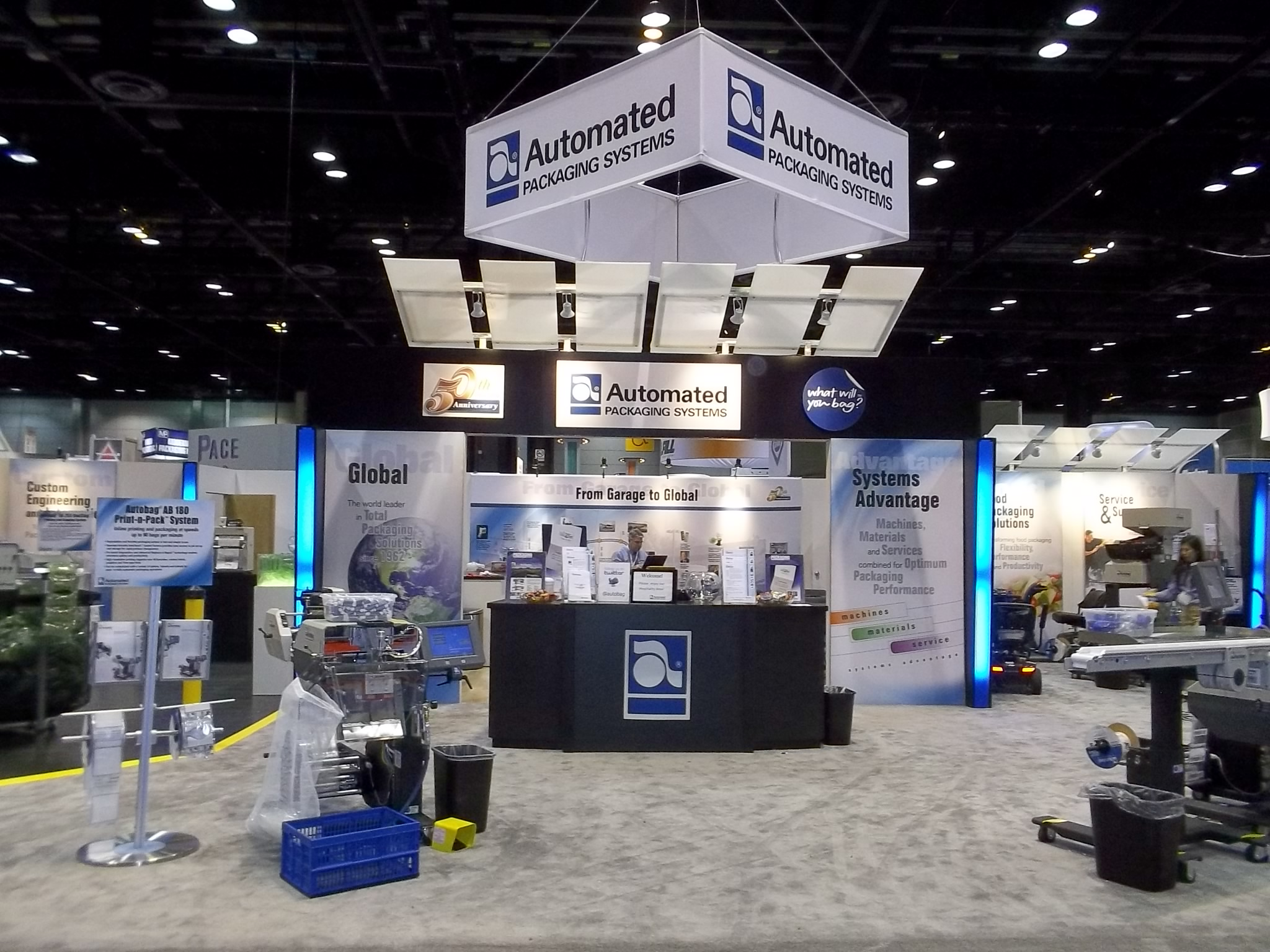 Automated Packaging Systems Trade Show Booth