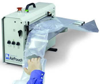 AirPouch void-fill and protective packaging system
