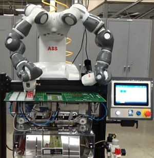 The Autobag 500 bagging system with ABB's YuMi robot